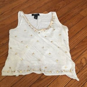 White House Black Market tank with gold